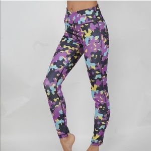 Pants - Multi colored camouflage leggings